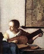 Woman with a Lute near a Window (detail) wt, VERMEER VAN DELFT, Jan