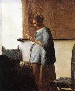 Woman in Blue Reading a Letter ng, VERMEER VAN DELFT, Jan