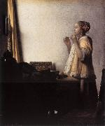 Woman with a Pearl Necklace wer, VERMEER VAN DELFT, Jan