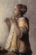 Woman with a Pearl Necklace (detail)  gff, VERMEER VAN DELFT, Jan