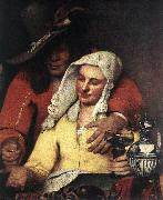 The Procuress (detail) wer, VERMEER VAN DELFT, Jan