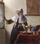 VERMEER VAN DELFT, Jan Young Woman with a Water Jug wer oil painting reproduction
