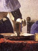 VERMEER VAN DELFT, Jan Young Woman with a Water Jug (detail) re oil painting reproduction
