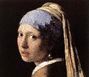 Girl with a Pearl Earring (detail) wet, VERMEER VAN DELFT, Jan