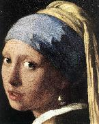 Girl with a Pearl Earring (detail) set, VERMEER VAN DELFT, Jan
