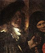 The Procuress (detail) rt, VERMEER VAN DELFT, Jan