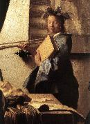 The Art of Painting (detail)  awr, VERMEER VAN DELFT, Jan
