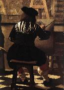 The Art of Painting (detail) wer, VERMEER VAN DELFT, Jan