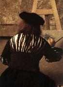 The Art of Painting (detail) eqt, VERMEER VAN DELFT, Jan