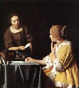 Lady with Her Maidservant Holding a Letter wetr, VERMEER VAN DELFT, Jan