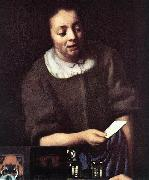 Lady with Her Maidservant Holding a Letter (detail)er, VERMEER VAN DELFT, Jan