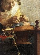 The Lacemaker (detail) wet, VERMEER VAN DELFT, Jan