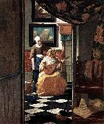 The Love Letter kgu, VERMEER VAN DELFT, Jan