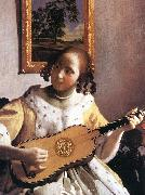 The Guitar Player (detail) awr, VERMEER VAN DELFT, Jan