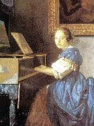 Lady Seated at a Virginal (detail) aer, VERMEER VAN DELFT, Jan