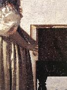 Lady Standing at a Virginal (detail) wer, VERMEER VAN DELFT, Jan