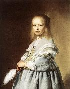VERSPRONCK, Jan Cornelisz Girl in a Blue Dress wer oil painting