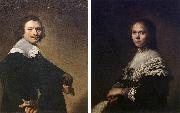 VERSPRONCK, Jan Cornelisz Portrait of a Man and Portrait of a Woman  wer oil painting