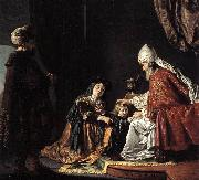 VICTORS, Jan Hannah Giving Her Son Samuel to the Priest ar oil painting