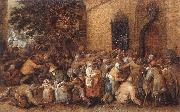 VINCKBOONS, David Distribution of Loaves to the Poor e oil painting