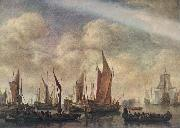 VLIEGER, Simon de Visit of Frederick Hendriks II to Dordrecht in 1646  jhtg oil painting on canvas