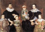 VOS, Cornelis de The Family of the Artist  jg oil painting