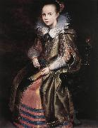 VOS, Cornelis de Elisabeth (or Cornelia) Vekemans as a Young Girl re oil painting