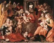 VOS, Marten de The Family of St Anne aer oil painting on canvas