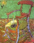 Gauguin's Chair with Books and Candle, Vincent Van Gogh