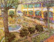 The Courtyard of the Hospital in Arles, Vincent Van Gogh