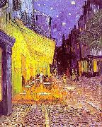 The Cafe Terrace on the Place du Forum, Arles, at Night, Vincent Van Gogh