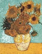 Vase with Twelve Sunflowers, Vincent Van Gogh
