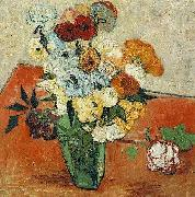 Japanese Vase with Roses and Anemones, Vincent Van Gogh