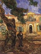 Tree and Man(in Front of the Asylum of Saint-Paul,St.Remy)