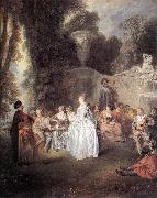 WATTEAU, Antoine Ftes Vnitiennes oil painting reproduction