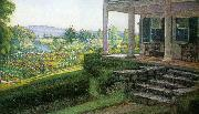 Walter I Cox The Front Porch oil painting