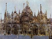 Walter Sickert St Mark's Cathedral, Venice oil painting