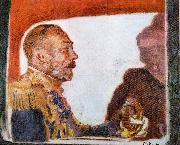 Walter Sickert King George V and Queen Mary oil painting