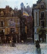 Walter Sickert The Quai Duquesne and the Rue Notre Dame, Dieppe oil painting