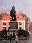 Walter Sickert The Statue of Duquesne, Dieppe oil painting