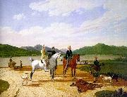 Wilhelm von Kobell Hunting Party on Lake Tegernsee oil painting reproduction