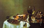 Willem Claesz Heda Breakfast Still Life with Blackberry Pie oil painting reproduction