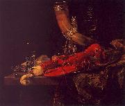Willem Kalf Still Life with Lobster, Drinking Horn and Glasses oil painting