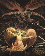 William Blake The Great Red Dragon and the Woman Clothed with the Sun oil painting