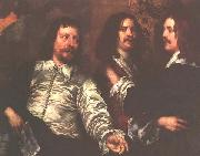 William Dobson The Artist, Sir Charles Cotterell and Balthasar Gerbier oil painting