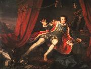 William Hogarth David Garrick as Richard III oil painting