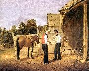 William Sidney Mount horse dealers oil painting