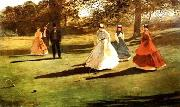 Croquet Players, Winslow Homer