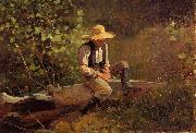 Winslow Homer The Whittling Boy oil painting