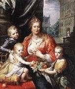 MOREELSE, Paulus Sophia Hedwig, Countess of Nassau Dietz, with her Three Sons sg oil painting reproduction